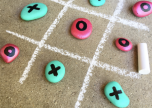 Diy Painted Rock Tic Tac Toe Fun Hot Spots Extended Care Program
